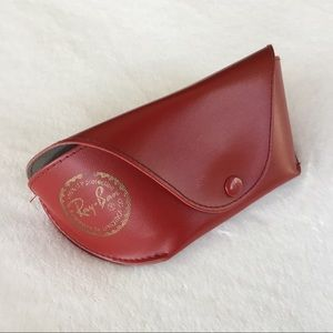 Red ray-ban glasses case
